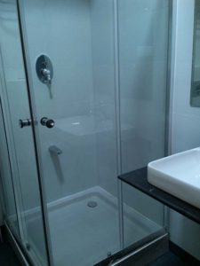 Hinged Rectangular Shower Glass Partition - L-Type Shower Enclosure, For Bathroom, L-Shaped Shower Enclosure, Shower Partitions, Shower Enclosure Manufacturer, Glass, Glass Enclosures, Glass Partition, Shower Glass Enclosure, Bathroom Fittings & Fixtures, Bathroom, Bathroom Renovation in Bangalore, Renovation of Bathroom, Shower Enclosures, Bathtub Walls, Bathroom Partition Glass Online, L-Shape Frameless Slider Shower Door Without Top Header Shower Enclosure, Sliding Door Shower Room